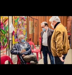 0 Philippe Martin Christian Peyret discutent avec André Malibos 1bis 030221.jpg