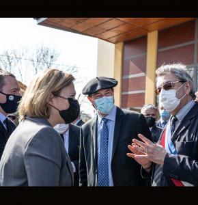 0 Michel Petit et Joël Boueilh accueillent Olivia Grégoire et Olivier Dussopt 1bis 220321.jpg